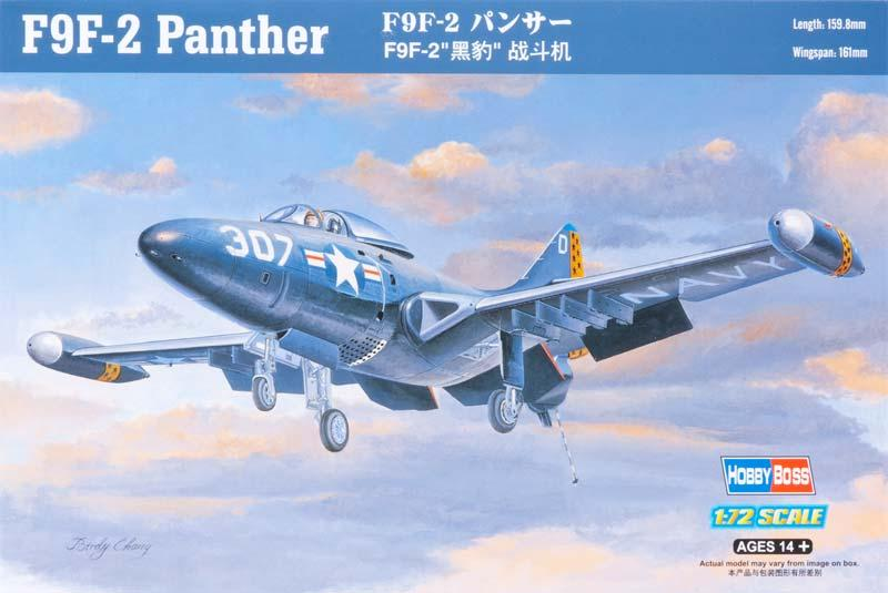 Палубный истребитель F9F-2 Panther Hobby Boss 87248
