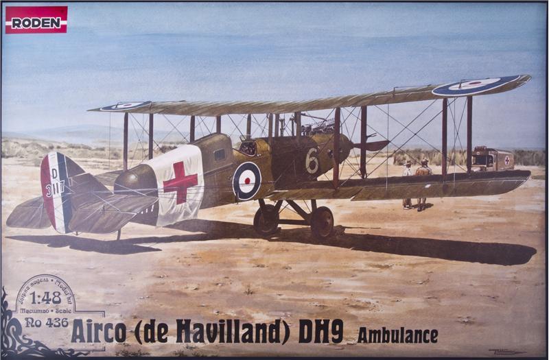 Самолет Де Хавиленд D.H.9/De Havilland (скорая помощь) Roden 436