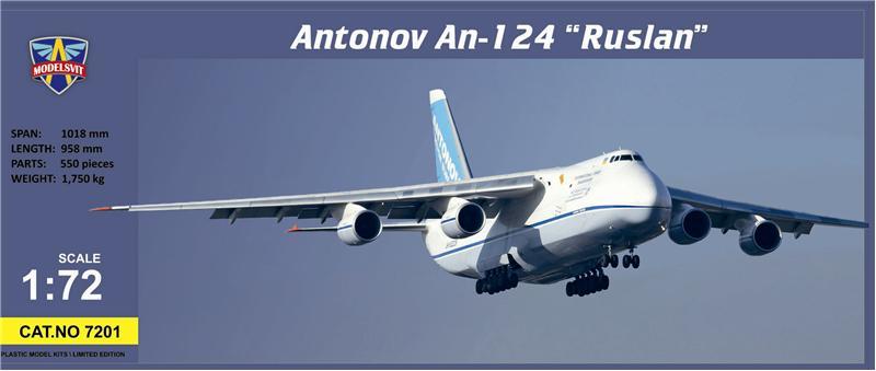 Самолет Руслан АН-124 ModelSvit 7201