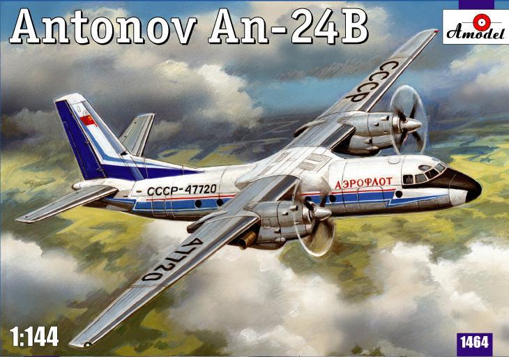 Пассажирский авиалайнер Антонов Ан-24Б Amodel 1464