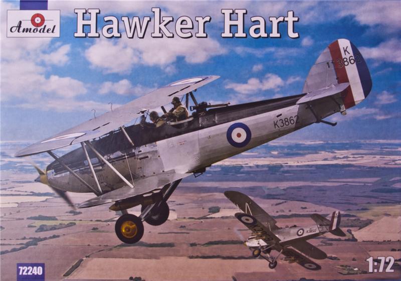 Биплан Хоукер Харт (Hawker Hart) Amodel 72240