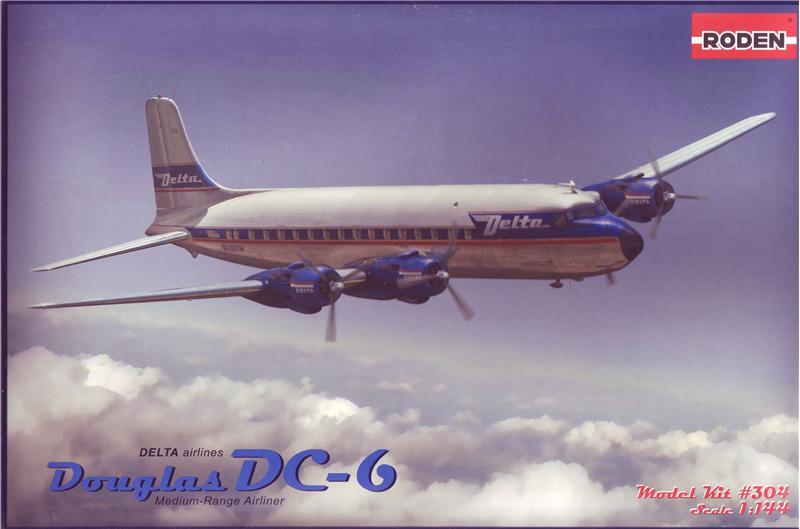 Пассажирский самолет Дуглас DC-6 Roden 304