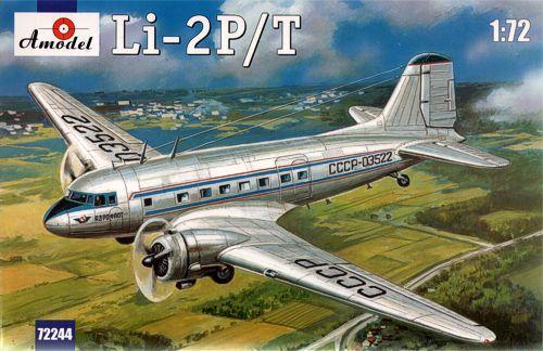 Пассажирский самолет Лисунов Ли-2П/Т Amodel 72244