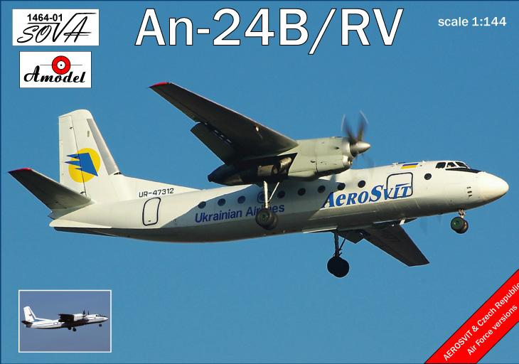 Пассажирский авиалайнер Антонов Ан-24Б/РВ Amodel 146401
