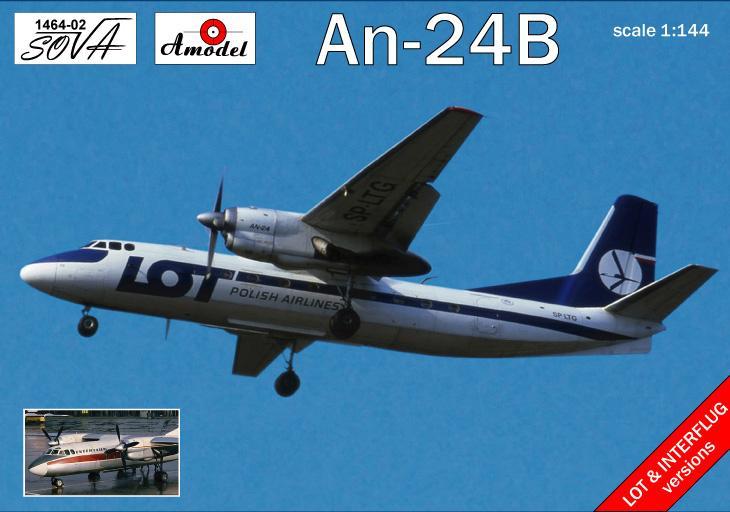 Пассажирский авиалайнер Антонов Ан-24Б Amodel 146402