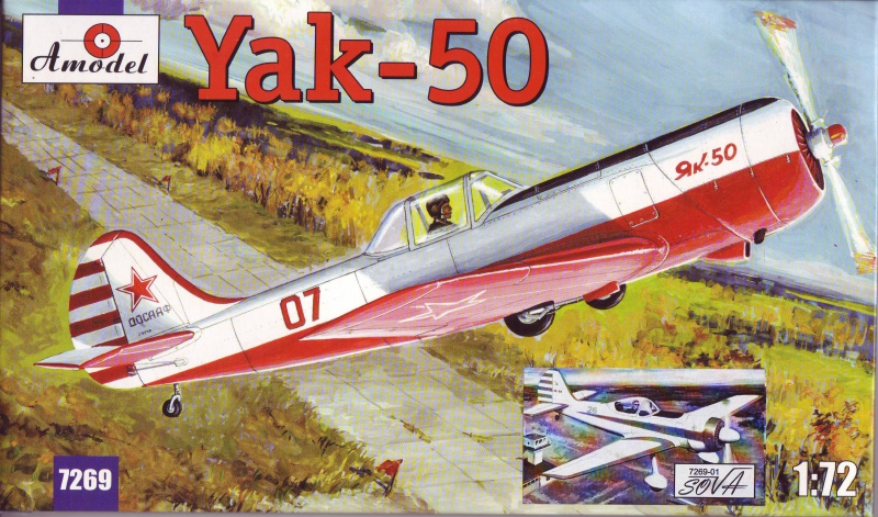 Спортивно-пилотажный самолет Як-50/50-2 Amodel 726901