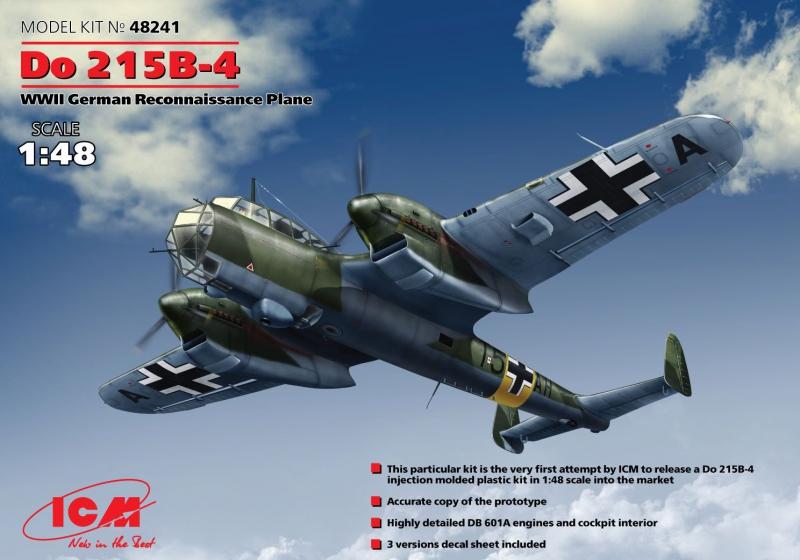Немецкий самолет-разведчик Do 215B-4 ICM 48241