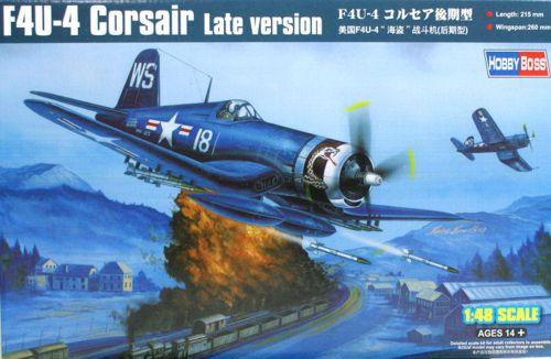Истребитель F4U-4 Corsair late version Hobby Boss 80387