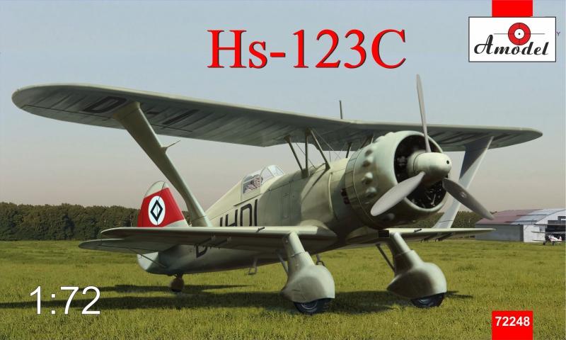 Пикирующий бомбардировщик Henschel Hs 123C Amodel 72248