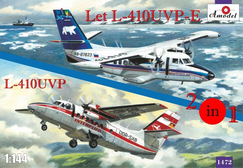Самолеты Let L-410UVP-E и L-410UVP (2 модели в комплекте) Amodel 1472