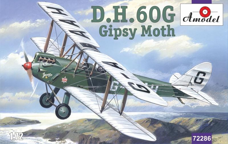 Биплан de Havilland DH.60G Gipsy Moth Amodel 72286