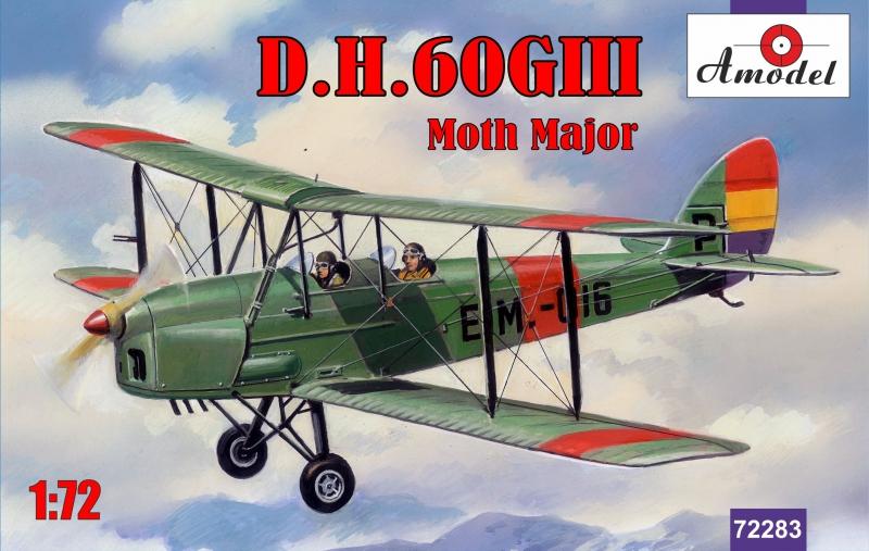 Биплан de Havilland DH.60GIII Moth Major Amodel 72283