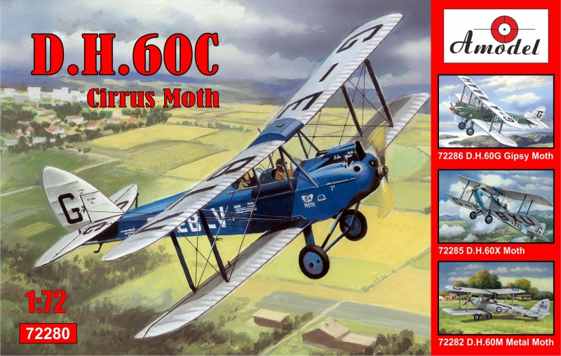 Биплан de Havilland DH.60C Cirrus Moth Amodel 72280