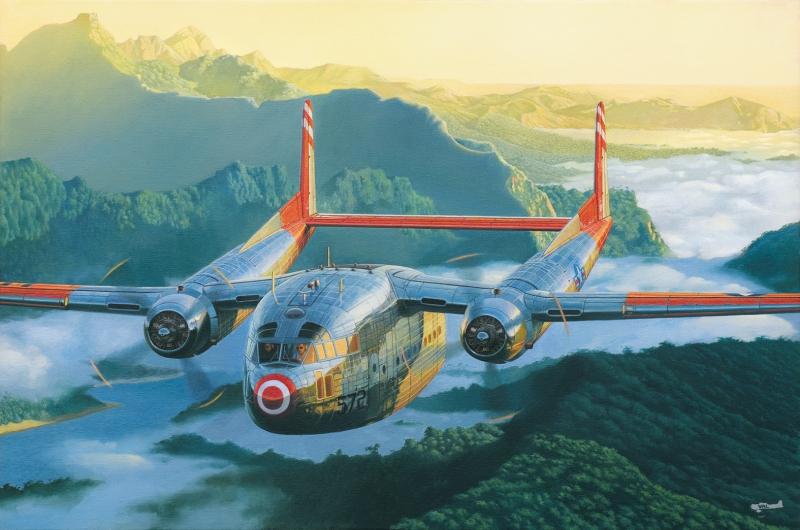 Военно-транспортный самолет Fairchild C-119С Boxcar Roden 321