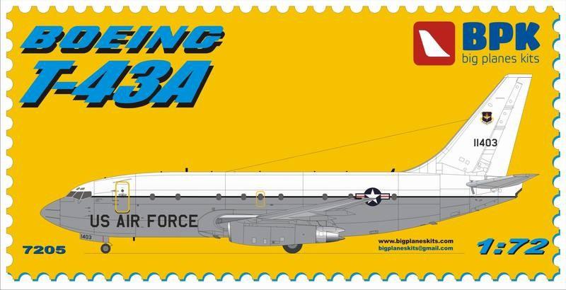 Учебно-тренировочный самолет Boeing T-43A USAF Big Planes kits 7205