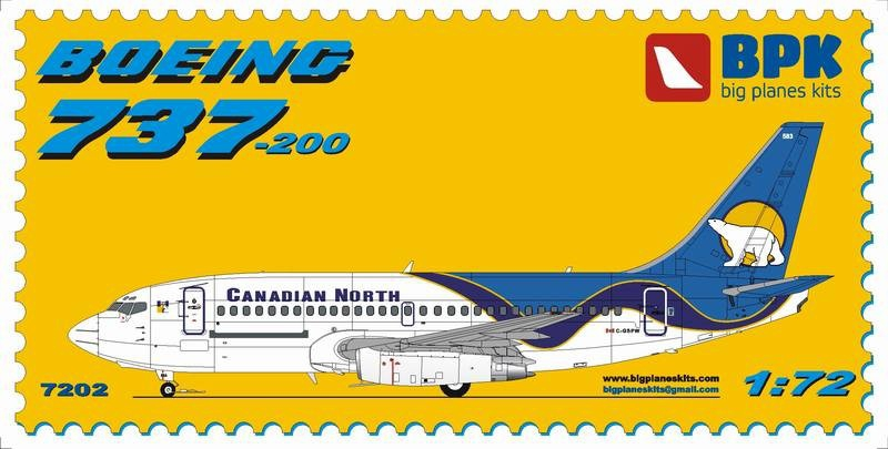 Пассажирский самолет Boeing 737-200 Canadian North Big Planes kits 7202