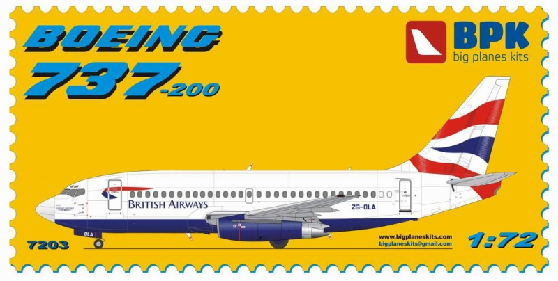 Пассажирский самолет Boeing 737-200 British Airways Big Planes kits 7203