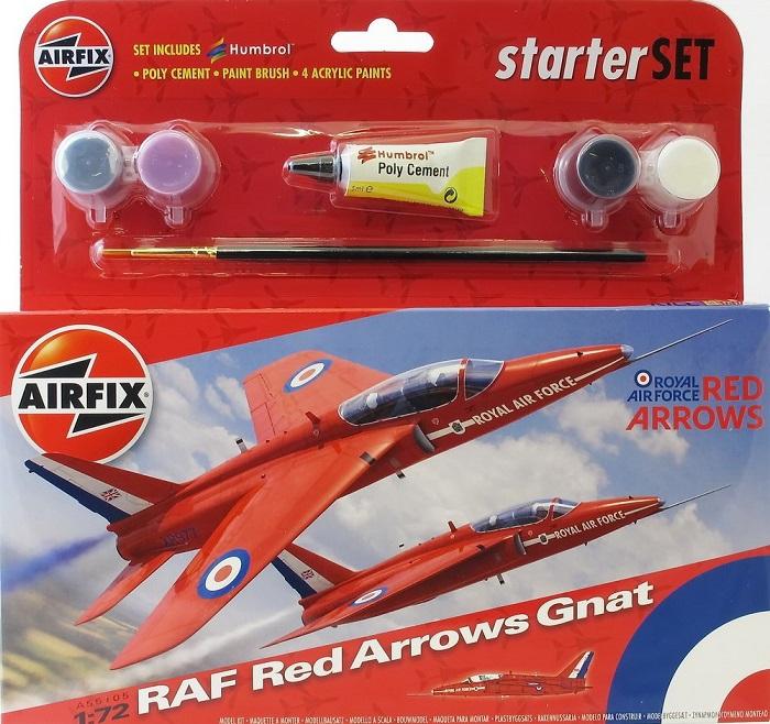 Подарочный набор с моделью самолета Red Arrows Gnat Airfix 55105