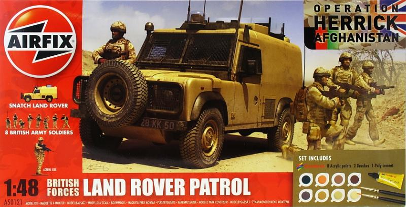 Подарочный набор с моделью автомобиля Land Rover и фигурок