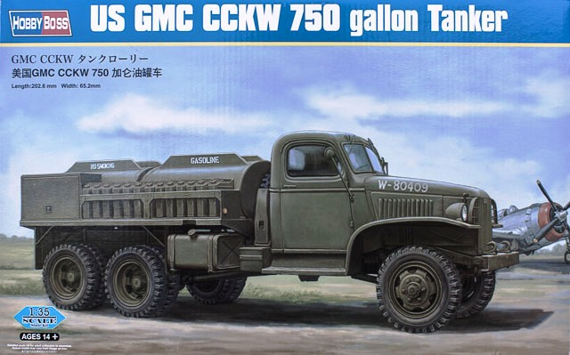 Грузовик GMC CCKW 750 gallon Tanker Version Hobby Boss 83830