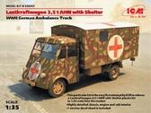 Германский армейский автомобиль Lastkraftwagen 3.5 t AHN c будкой