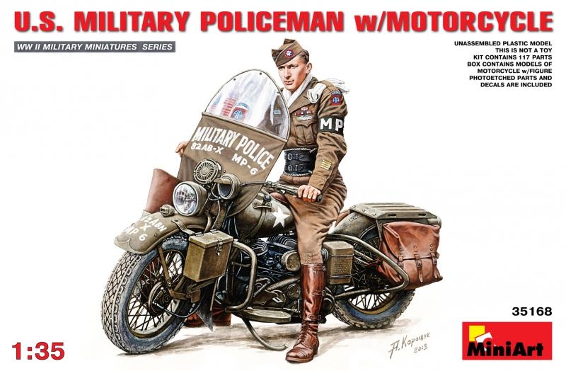 Американский военный полицейский на мотоцикле MiniArt 35168