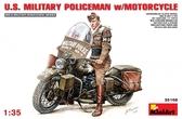 Американский военный полицейский на мотоцикле