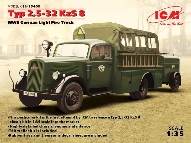 Германский легкий пожарный автомобиль Typ 2,5-32 KzS 8 ІІ МВ ICM 35403