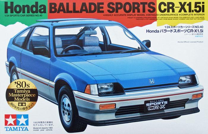 Автомобиль Honda Ballade Sports CR-X 1.5i Tamiya 24040