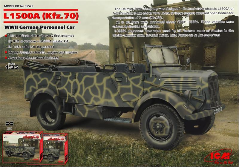 (Kfz.70), Германский армейский автомобиль II МВ ICM 35525