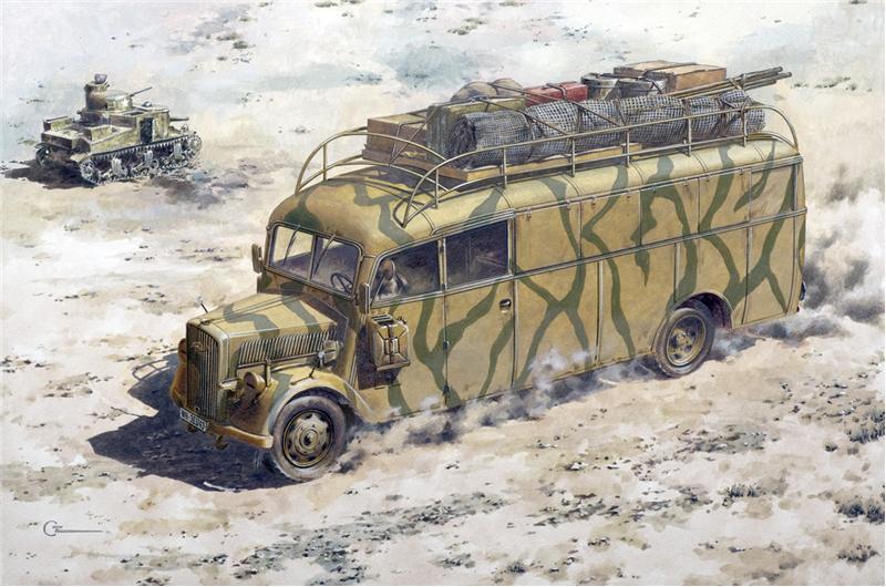 Немецкий штабной автобус Opel 3.6-47 Blitz Omnibus Stabswagen Roden 723