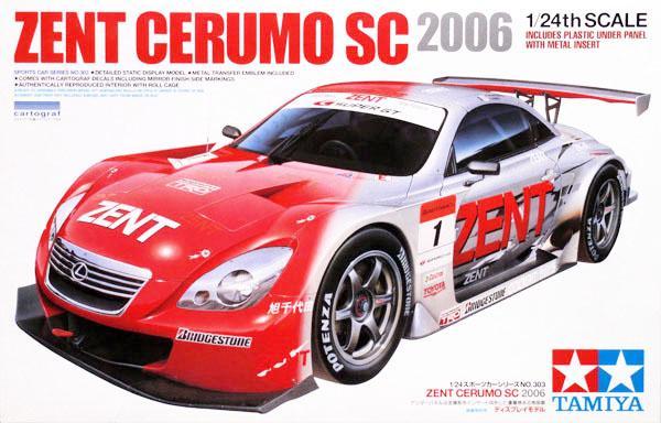 Модель автомобиля Лексус / Lexus SC430 Zent Cerumo SC 2006 Tamiya 24303