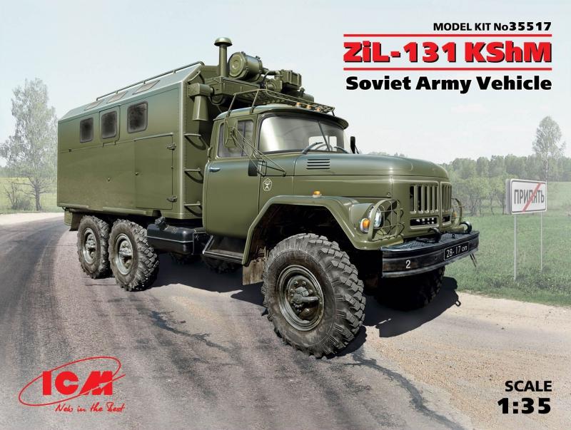 Советский армейский автомобиль ЗиЛ-131 КШМ ICM 35517