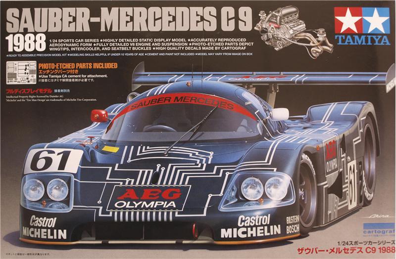 Автомобиль Sauber-Mercedes C8 1988 Tamiya 24310