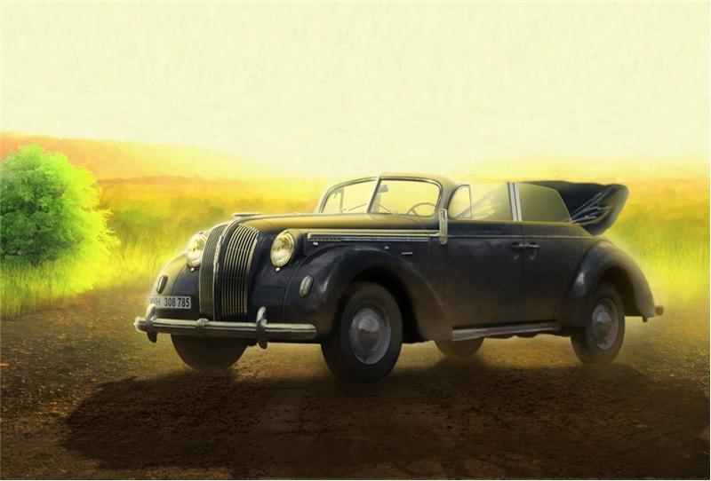 Немецкий штабной автомобиль Второй мировой войны Адмирал Cabriolet ICM 35471