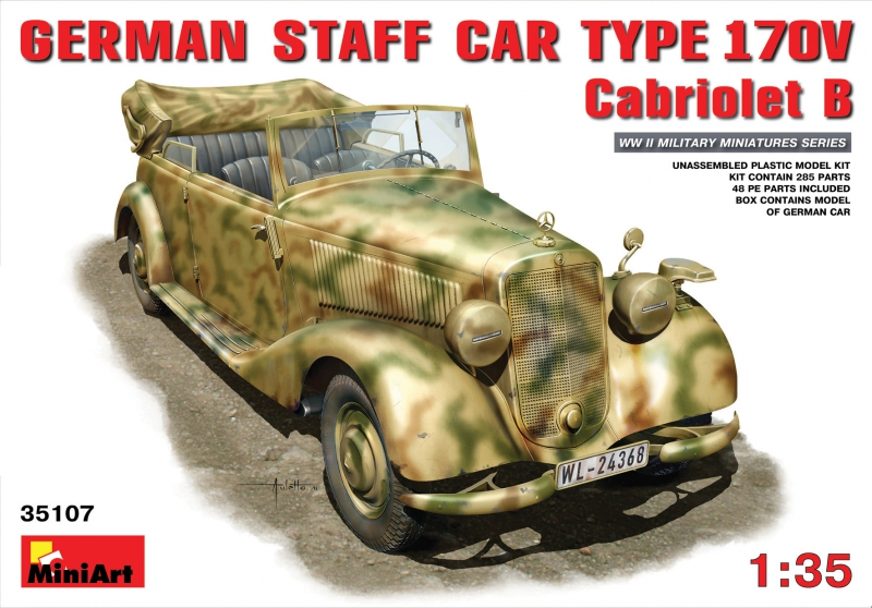 Немецкий штабной автомобиль Тип 170V Кабриолет Б MiniArt 35107