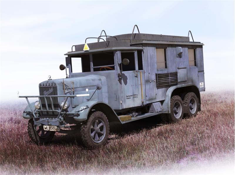 Германский автомобиль радиосвязи ІІ МВ Henschel 33 D1 Kfz.72 ICM 35467