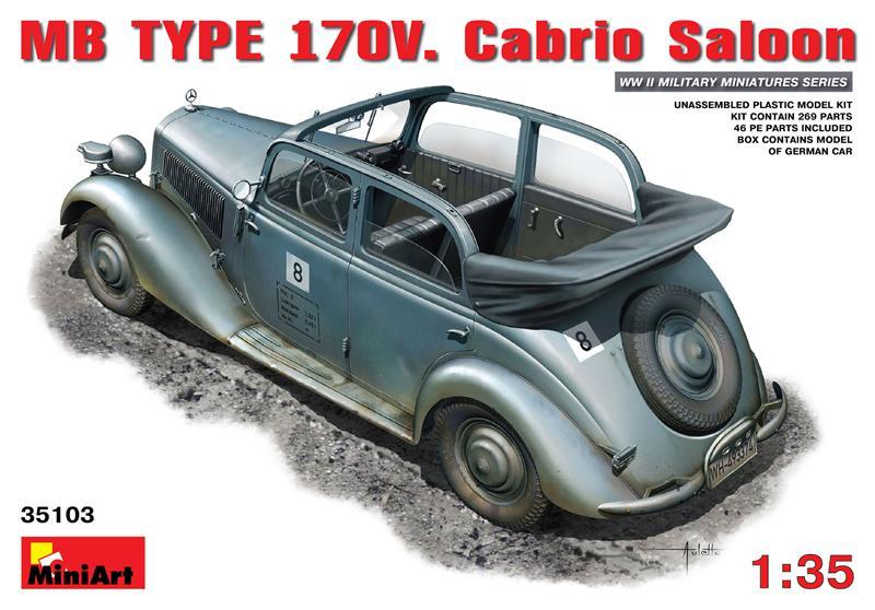 Немецкий автомобиль кабриолет MB Typ 170V (Cabrio Saloon) MiniArt 35103