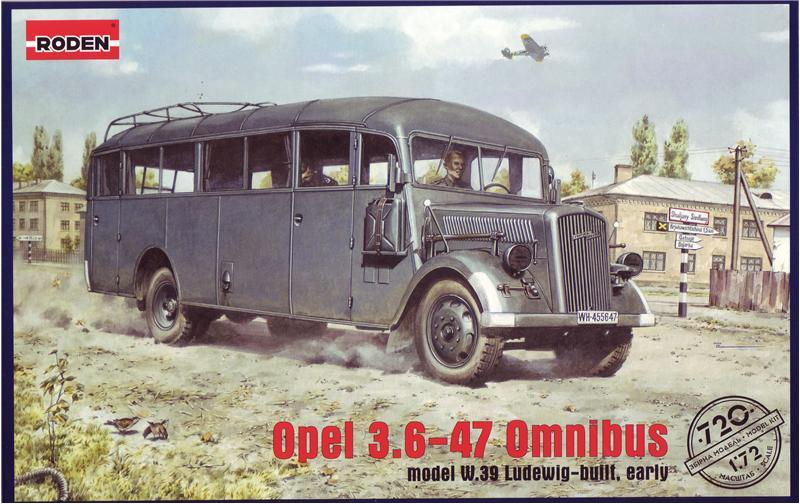 Немецкий штабной автобус Opel Blitz Omnibus W39 Roden 720