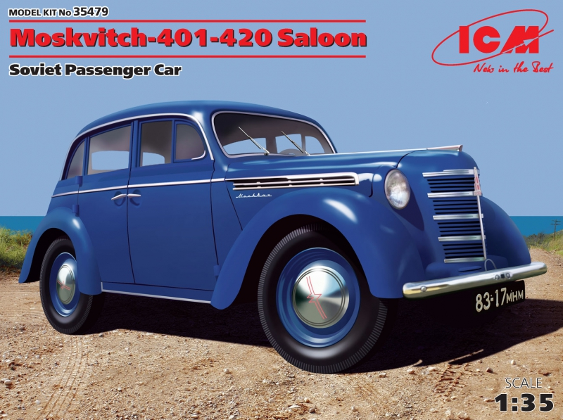Отечественный пассажирский автомобиль Москвич-401-420 седан ICM 35479