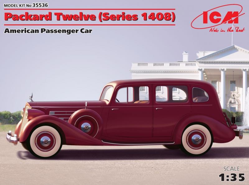 Американский пассажирский автомобиль Packard Twelve (серии 1408) ICM 35536