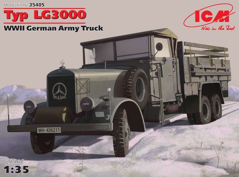 Германский армейский грузовик Typ LG3000 ІІ МВ ICM 35405