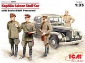 Штабная машина Капитан седан с советским штабным персоналом