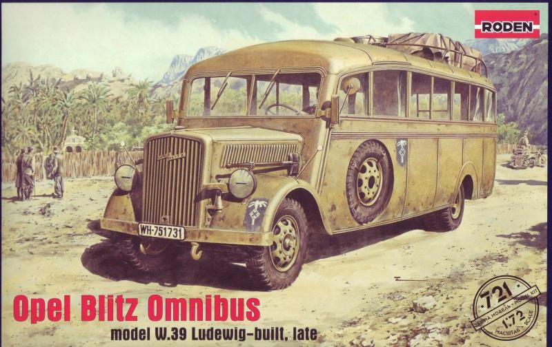 Немецкий штабной автобус Opel Blitz Omnibus W39, Африканский корпус Roden 721
