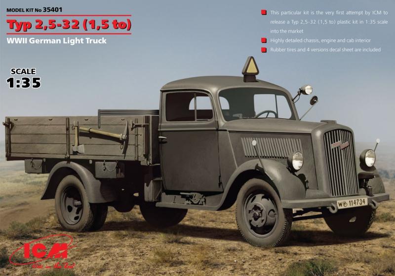 Немецкий легкий грузовик Typ 2,5-32 (1,5 ton) ICM 35401