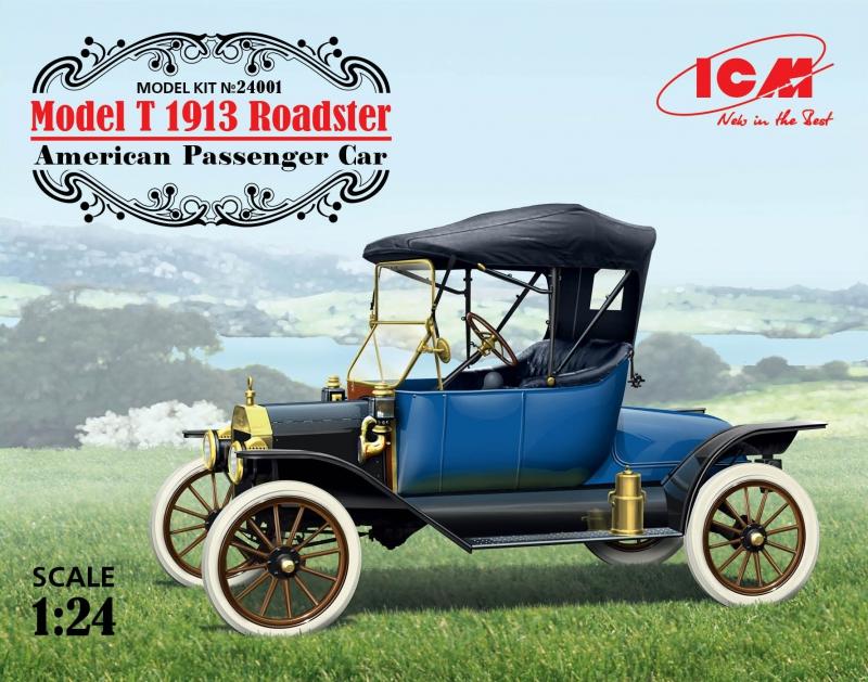 Американский пассажирский автомобиль Model T 1913 Roadster ICM 24001