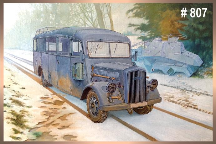 Немецкий штабной автобус Opel Blitz 3.6 – 47 Omnibus W39 Ludewig (Essen) Roden 807