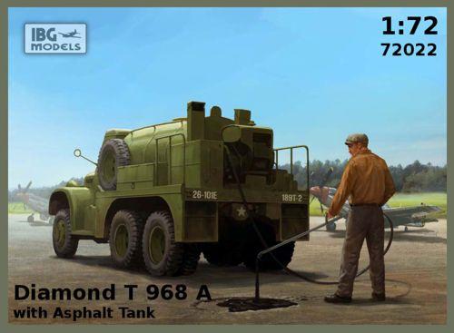 Грузовик Diamond T 968A с цистерной для перевозки асфальта IBG Models 72022