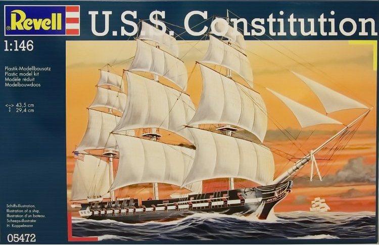 Парусный корабль Constitution в масштабе 1:146 Revell 05472