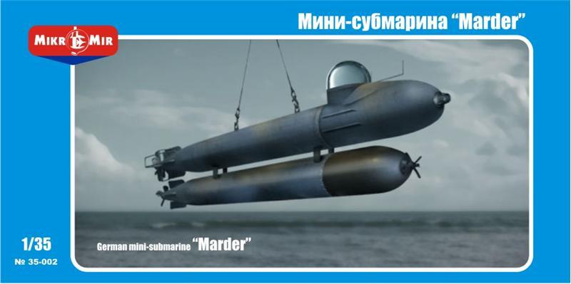 Пластиковая модель мини-субмарины Marder Amp/Micro-Mir 35002
